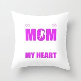 Hockey Moms Full Heart Mothers Day T-Shirt Throw Pillow