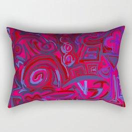 Red blue symbols Rectangular Pillow
