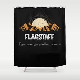 Flagstaff Hiking Mountains Vintage Shower Curtain