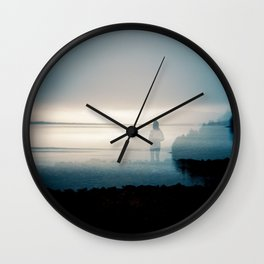 Silence on the Sound - Film Double Exposure taken on the Oregon Coast Wall Clock