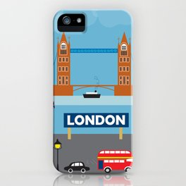 London, England - Collage Illustration by Loose Petals iPhone Case