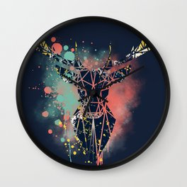 Mystic Deer Wall Clock