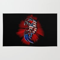 patriotic Area & Throw Rugs featuring Patriotic Eagle by Mr D's Abstract Adventures