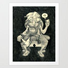 Sitting Heart Art Print