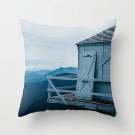 Blue Hour Fire Lookout Throw Pillow