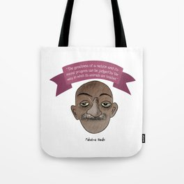 Gandhi mahatma quotes Tote Bag