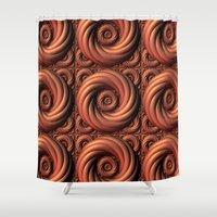 copper Shower Curtains featuring Copper Coils by Lyle Hatch