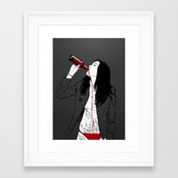 drink Framed Art Prints featuring DRINK by CoCoCo