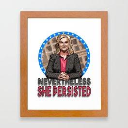 NevertheLESLIE, She Persisted Framed Art Print
