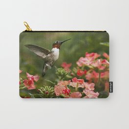 Hummingbird Garden Art Carry-All Pouch