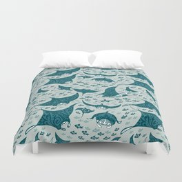 Manta ray Duvet Cover