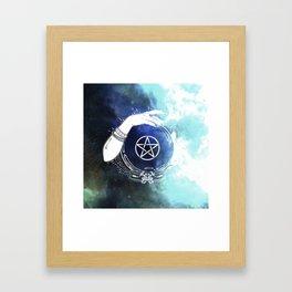 Mystic Cosmos Fortune Teller Framed Art Print