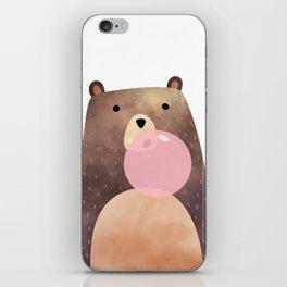 Bear gum, nursery print iPhone Skin