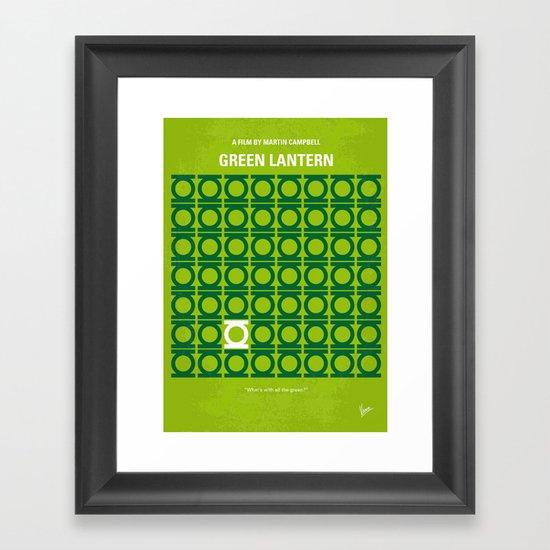 No120 My GREEN LANTERN minimal movie poster Framed Art Print