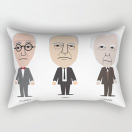 The Godfathers of Modern Architecture Rectangular Pillow