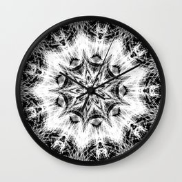Atomic Black Center Swirl Mandala Wall Clock