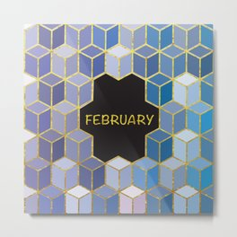 Cubes Of February Metal Print