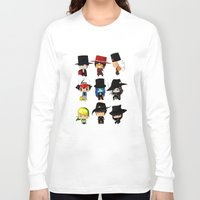 anime Long Sleeve T-shirts featuring Anime Hatters by artwaste