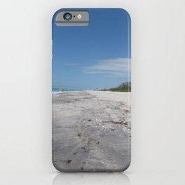 Beach stroll photo taken at Stump Pass State Park on Manasota key Florida iPhone Case