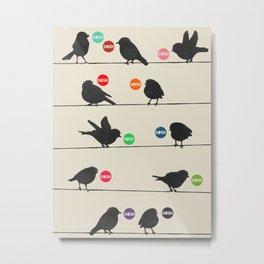Birdsong_Gosh by Garima & Rachel  Metal Print