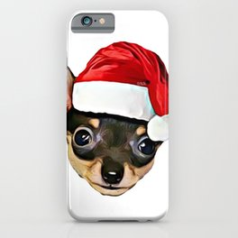 Christmas Chihuahua dog iPhone Case