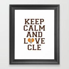 LOVE CLE BROWNS II Framed Art Print