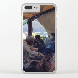 Lunch on the Boat by Joaquin Sorolla, 1898 Clear iPhone Case