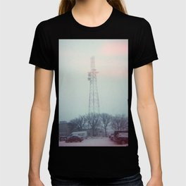 light leaks in snow T-shirt