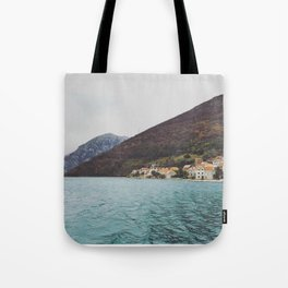 Bay of Kotor from the ferry Tote Bag