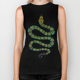Turquoise Serpent Biker Tank