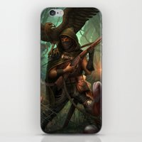 hunter iPhone & iPod Skins featuring Hunter by Mitul Mistry