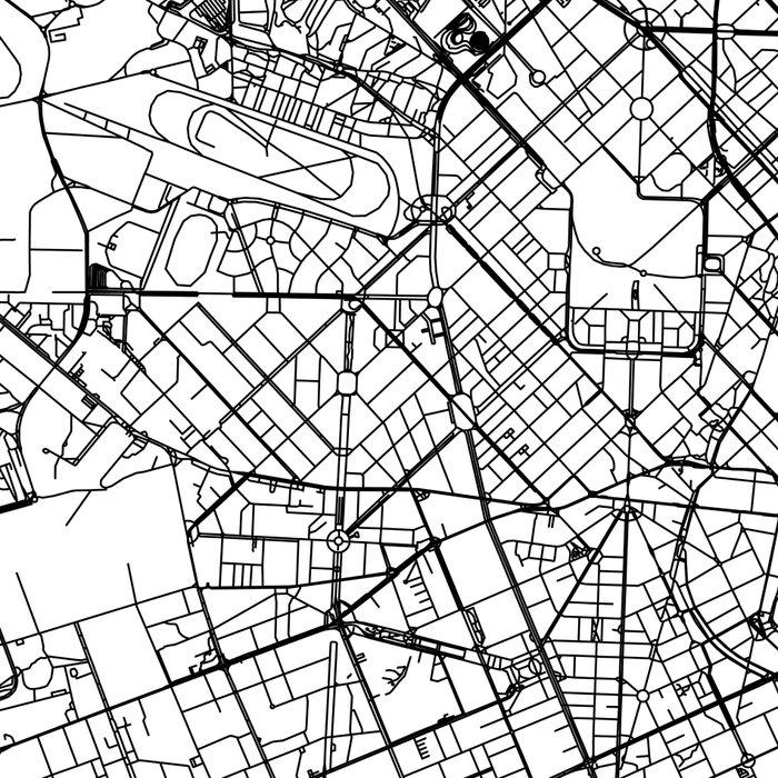 Milan White Map Leggings