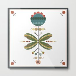 Kurbits Flower Metal Print