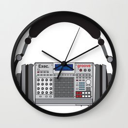 Executive Groove Sampler-Head [ MPC Only ] Wall Clock