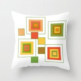 Retro Minimalist Square Design Throw Pillow