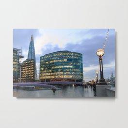 London Riverbank Metal Print