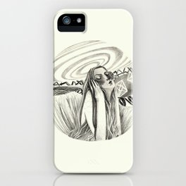 the listener - B&W iPhone Case