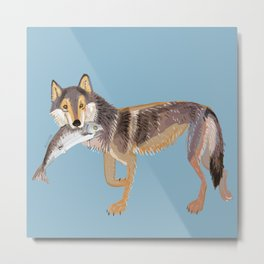 Totem Coastal wolf (Vancouver Wolf) Metal Print