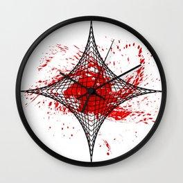 Star Red Wall Clock