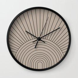 Boho Minimalistic Art Wall Clock