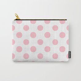 Polka Dots (Pink/White) Carry-All Pouch