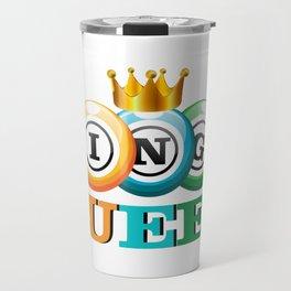 Bingo Queen Bingo Player Gift Funny Travel Mug