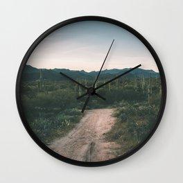 Desert Roads Wall Clock