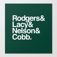 packers Canvas Prints featuring Packers List by Devilbear Designs