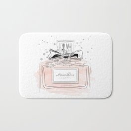 Perfume bottle with bow Bath Mat