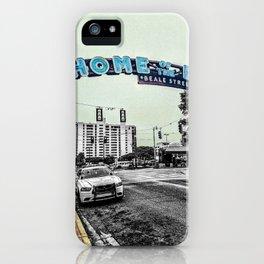 Beale Street Photograph Color/Black & White Mashup iPhone Case