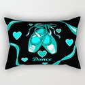 Love to Dance Teal Ballet Shoes by artistabigail