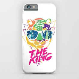 Retro Tiger The King in Cool Sunglasses iPhone Case