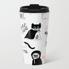 Pug Metal Travel Mug