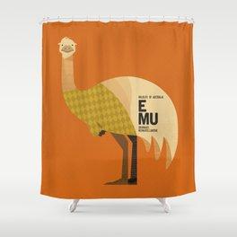 Hello Emu Shower Curtain